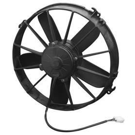 """SPAL High Performance Cooling Fans - 30102038 - 12"""" Electric Fan - Single - 1640 CFM - 12V - Puller - Black"""