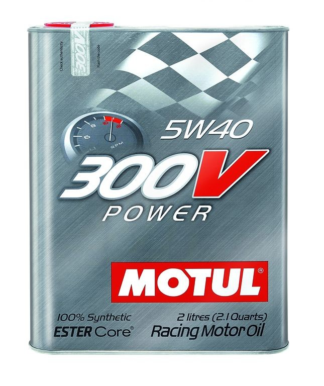 "Motul 300V ""POWER"" 5W40 - 2 Liter Tin"